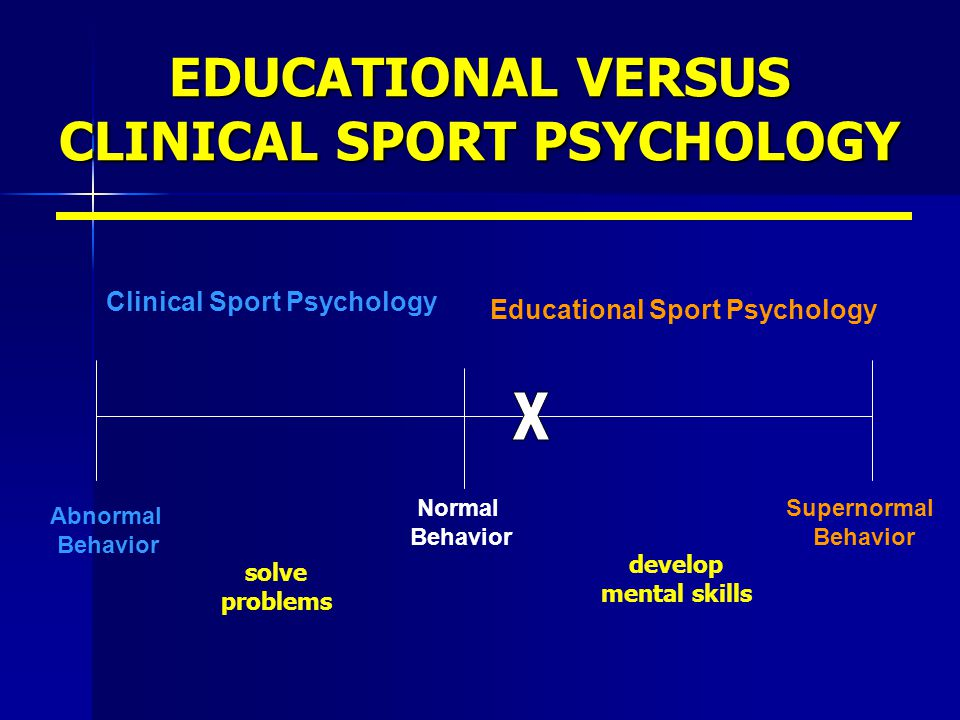 EDUCATIONAL VERSUS CLINICAL SPORT PSYCHOLOGY