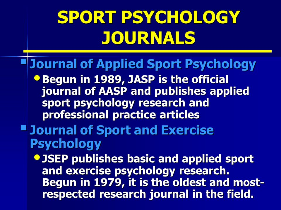 sports research articles