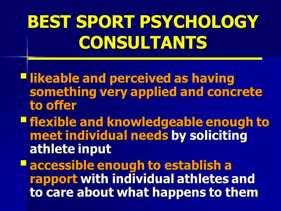 BEST SPORT PSYCHOLOGY CONSULTANTS