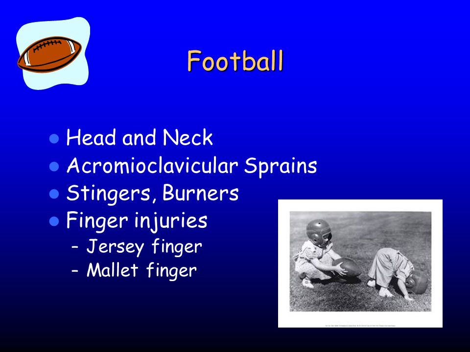 Football Head and Neck Acromioclavicular Sprains Stingers, Burners