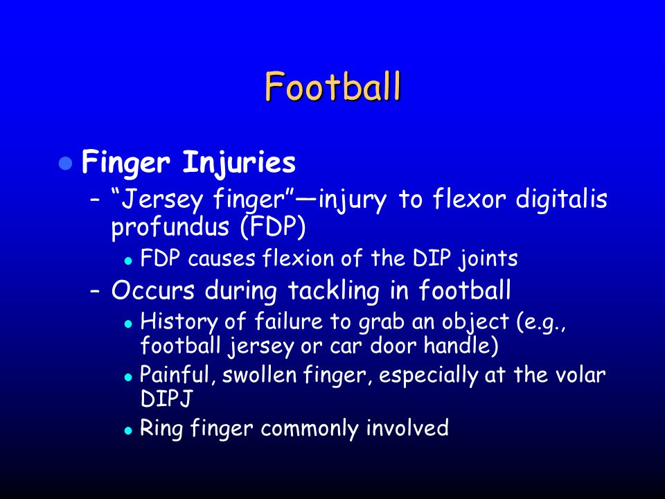 Football Finger Injuries