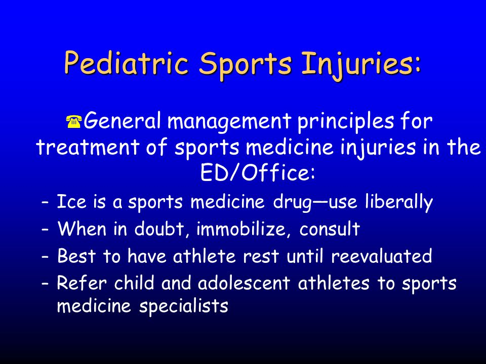 Pediatric Sports Injuries: