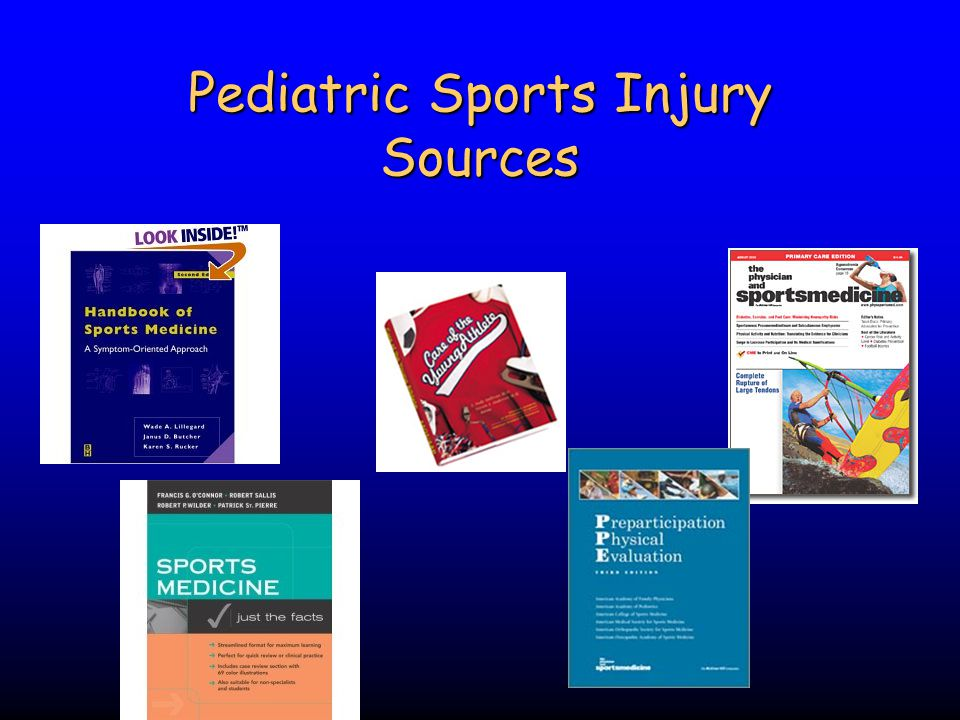 Pediatric Sports Injury Sources