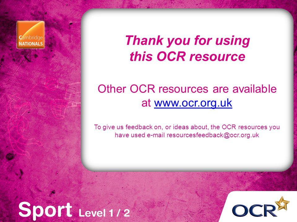 Other OCR resources are available at www.ocr.org.uk