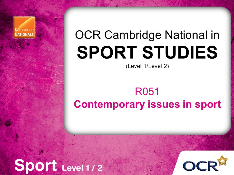 Contemporary issues in sport