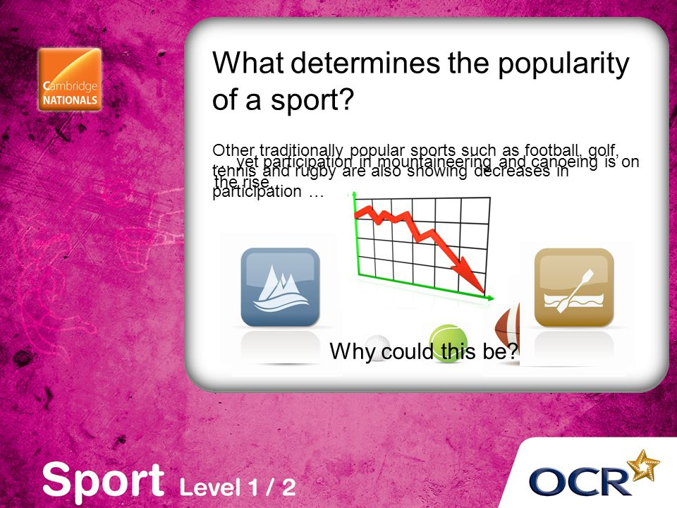 What determines the popularity of a sport