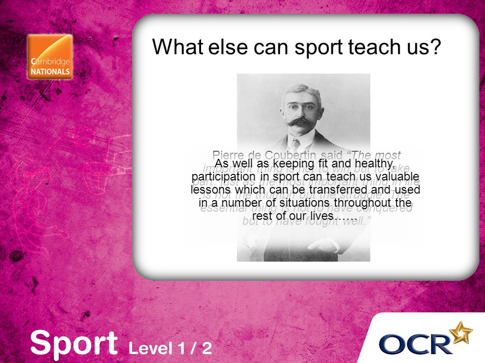 What else can sport teach us