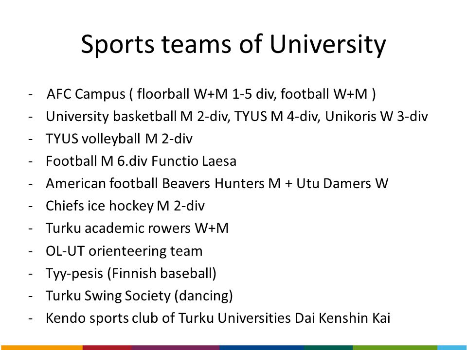 Sports teams of University
