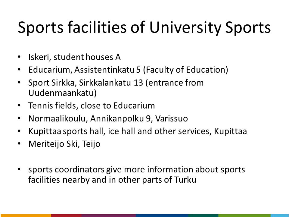 Sports facilities of University Sports