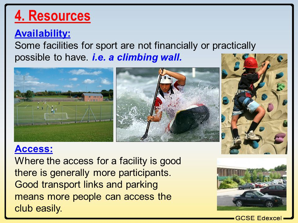 4. Resources Availability: