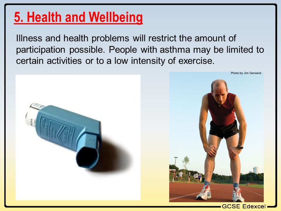 5. Health and Wellbeing