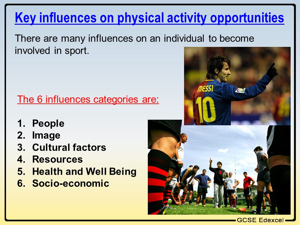 Key influences on physical activity opportunities