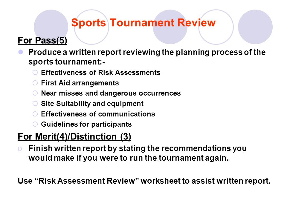 Sports Tournament Review