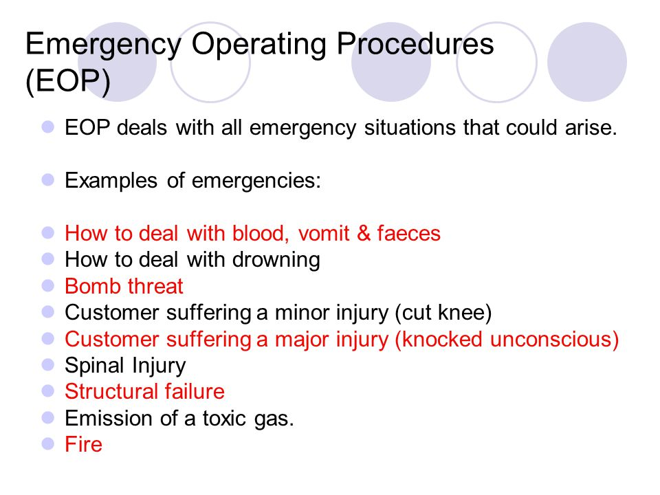 Emergency Operating Procedures (EOP)