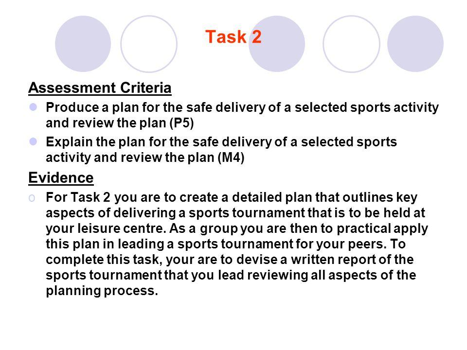 Task 2 Assessment Criteria Evidence
