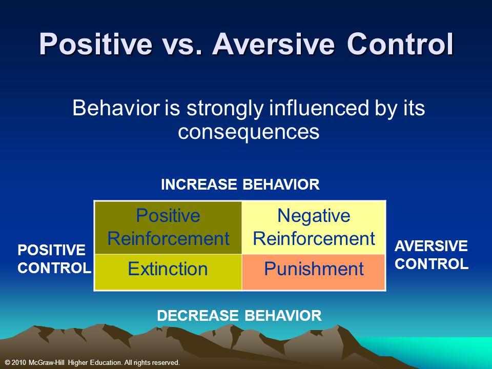 Positive vs. Aversive Control