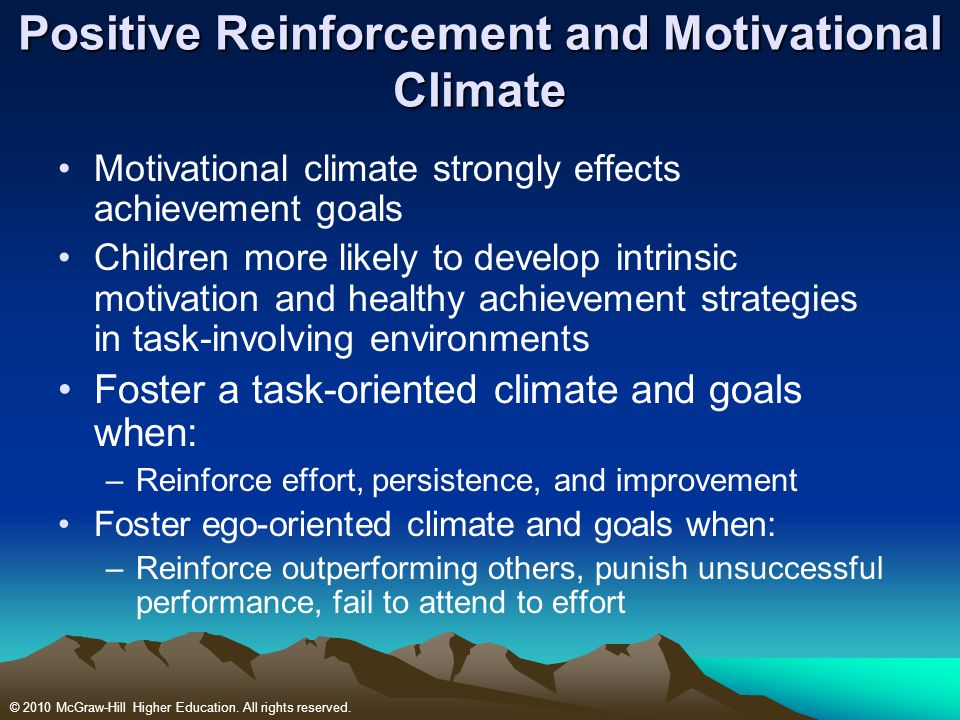Positive Reinforcement and Motivational Climate