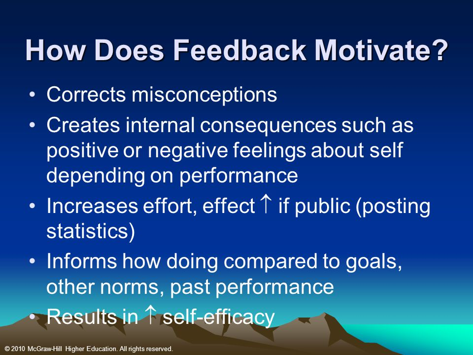 How Does Feedback Motivate