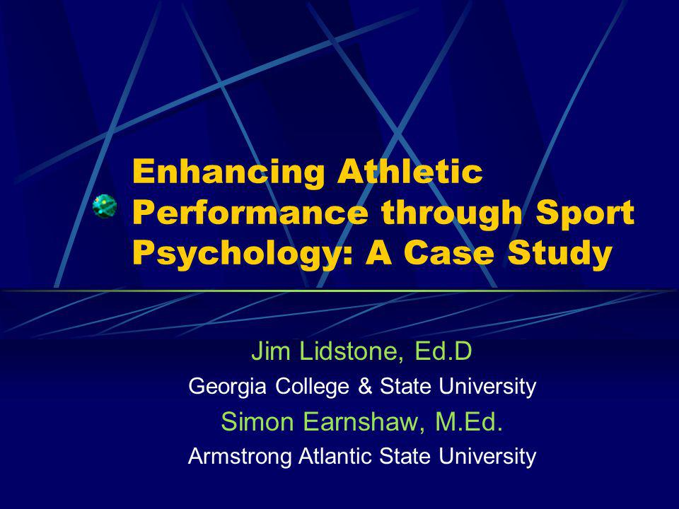 Sport and exercise psychology-a case study approach, Short Course