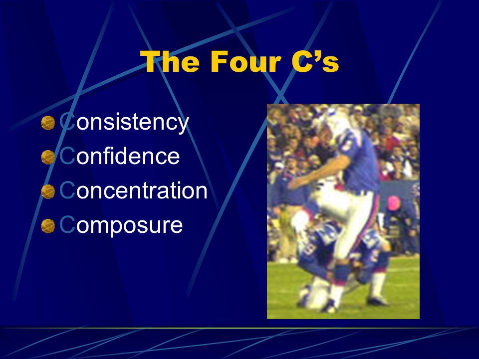 The Four C's Consistency Confidence Concentration Composure