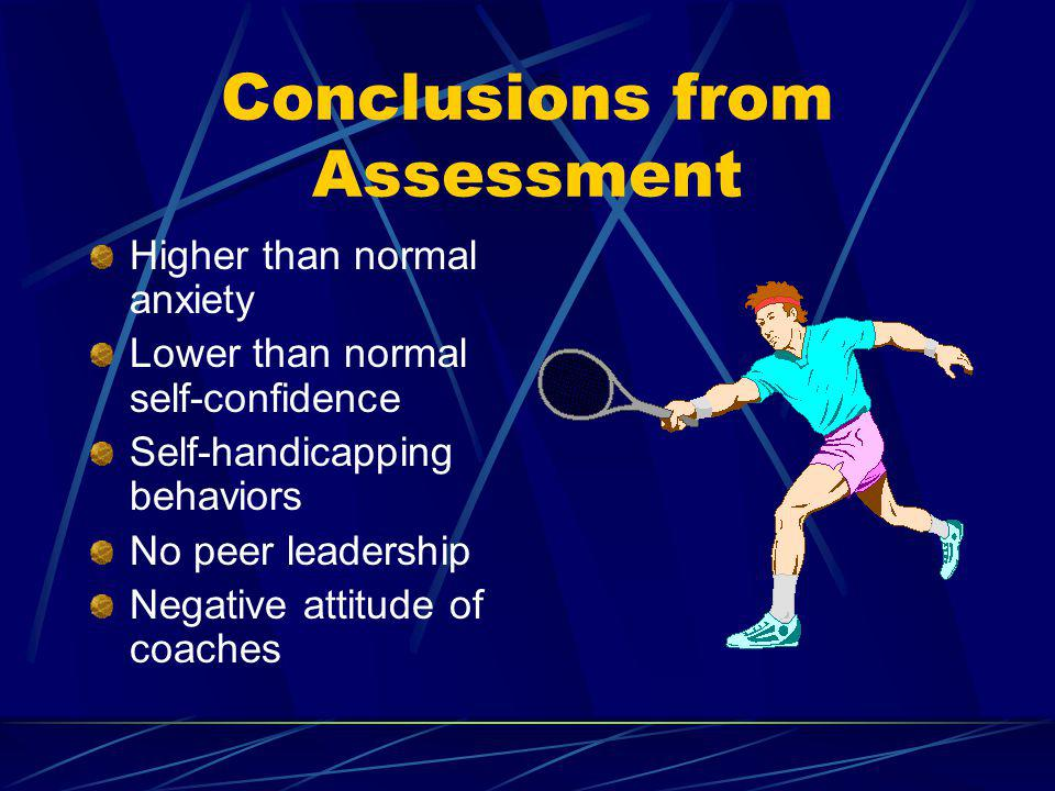 Conclusions from Assessment