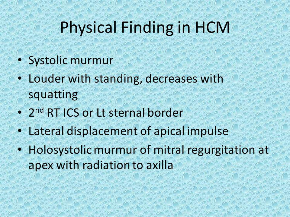 Physical Finding in HCM