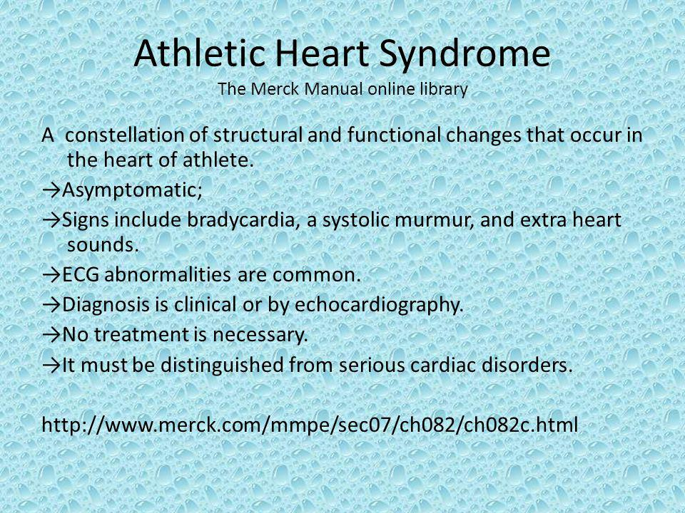 Athletic Heart Syndrome The Merck Manual online library