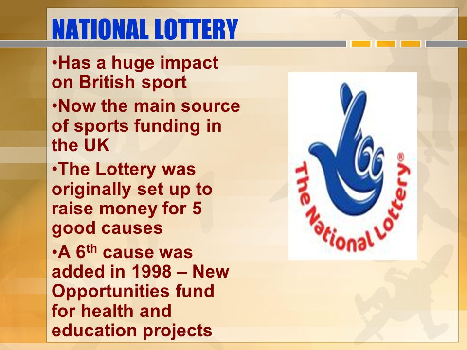 NATIONAL LOTTERY Has a huge impact on British sport