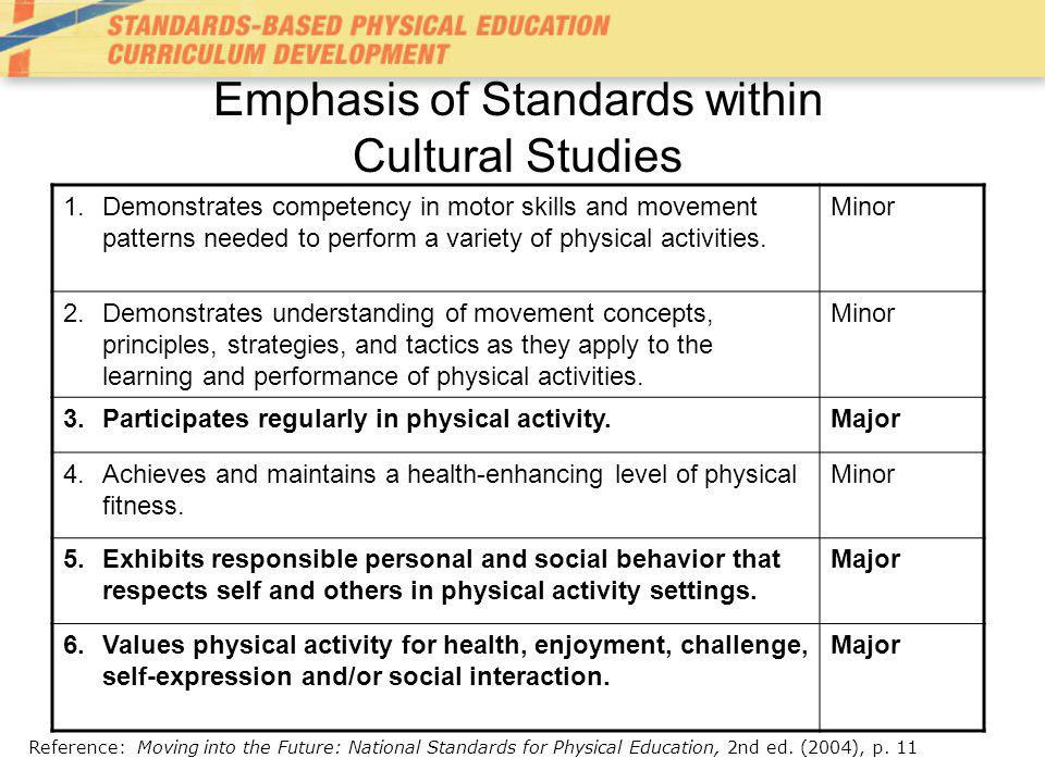 Emphasis of Standards within Cultural Studies