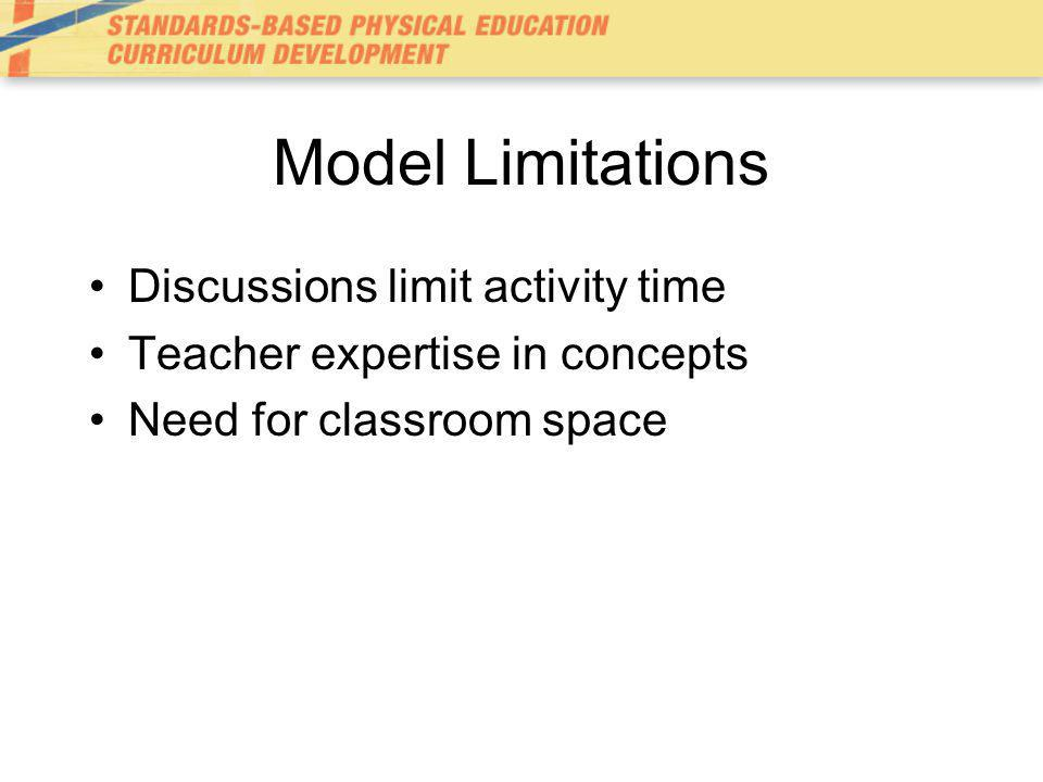 Model Limitations Discussions limit activity time