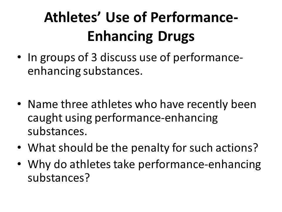 Athletes' Use of Performance-Enhancing Drugs