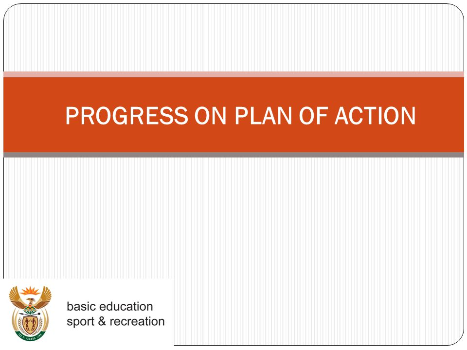 PROGRESS ON PLAN OF ACTION