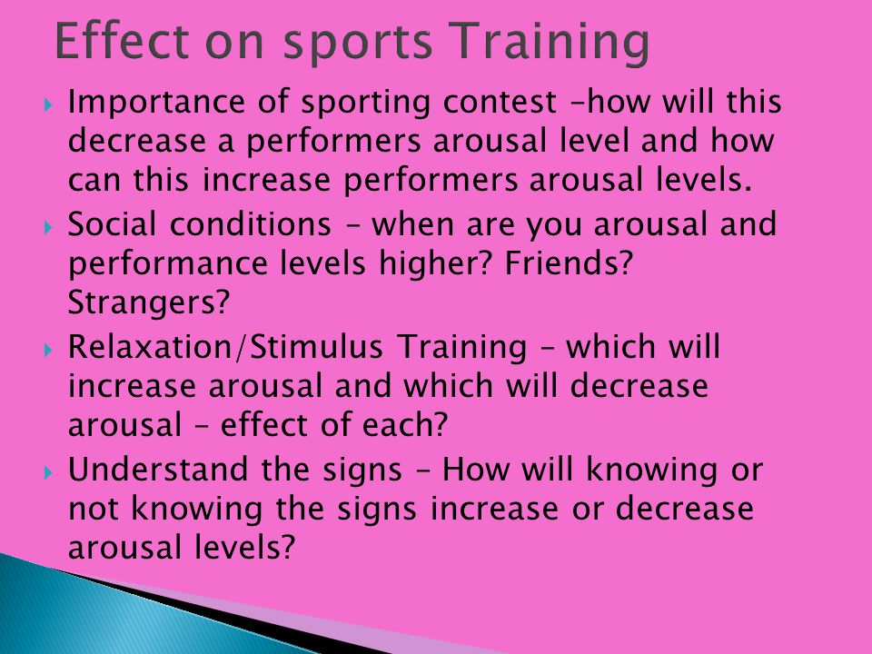 Effect on sports Training