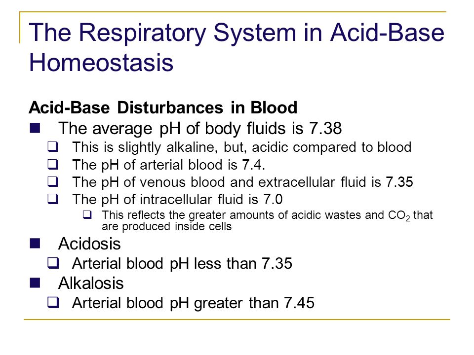 The Respiratory System in Acid-Base Homeostasis