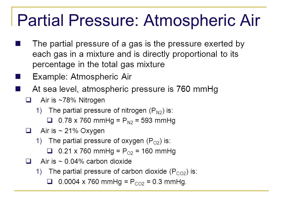 Partial Pressure: Atmospheric Air