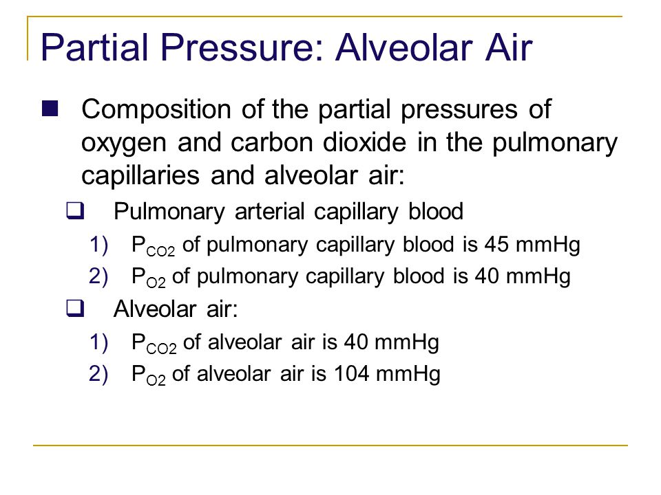 Partial Pressure: Alveolar Air
