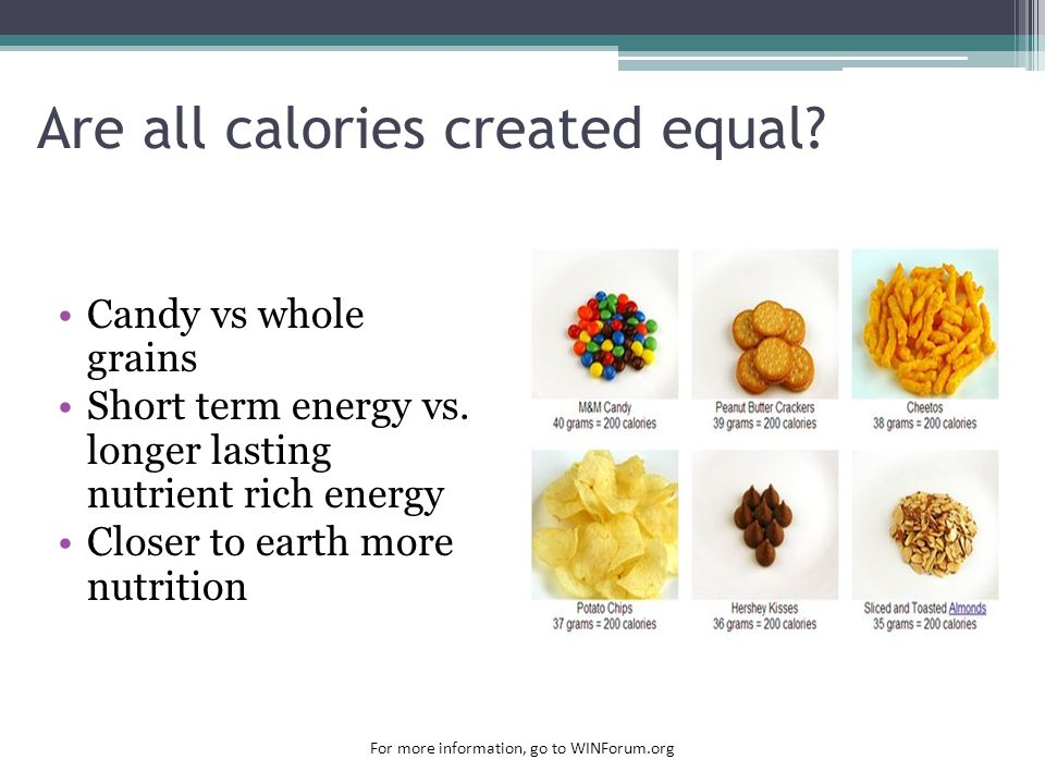 Are all calories created equal