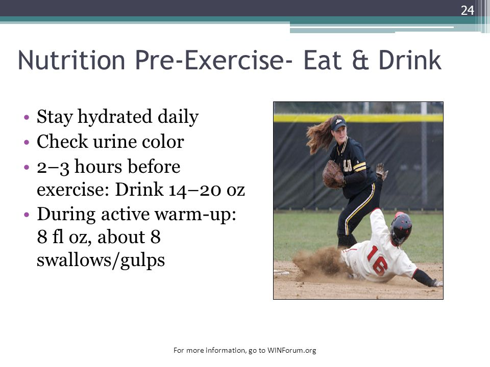 Nutrition Pre-Exercise- Eat & Drink