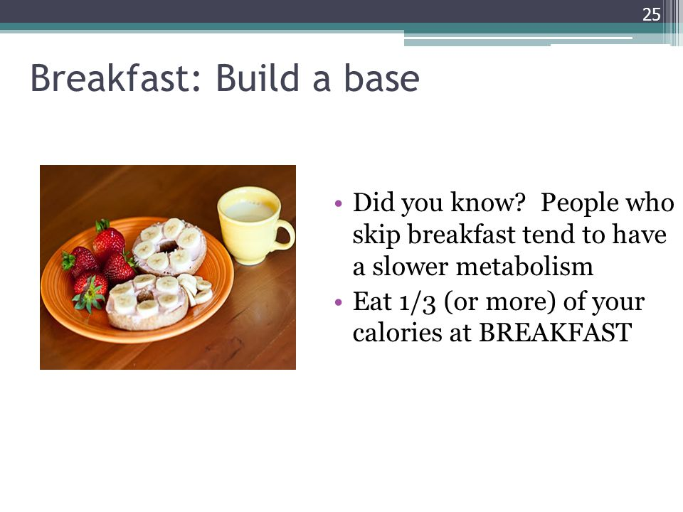 Breakfast: Build a base