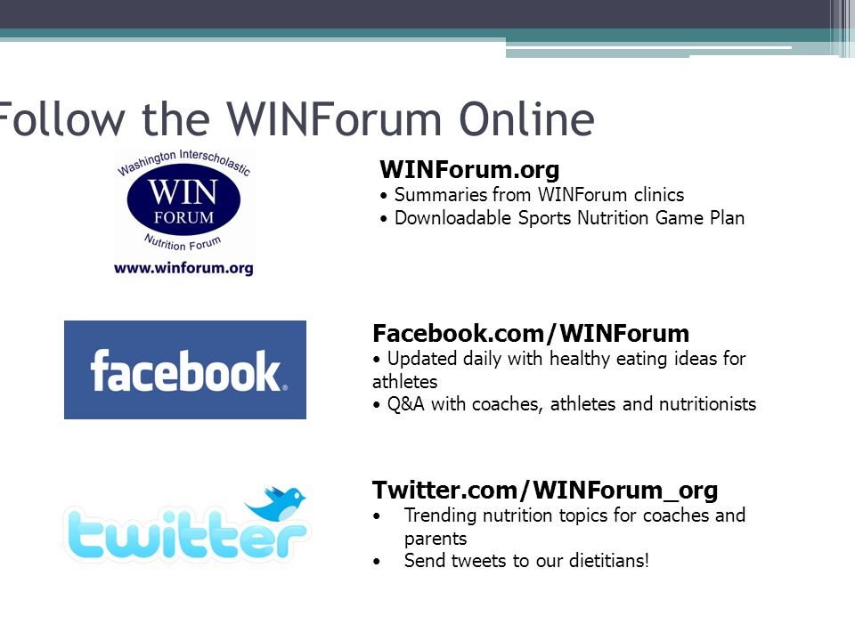 Follow the WINForum Online