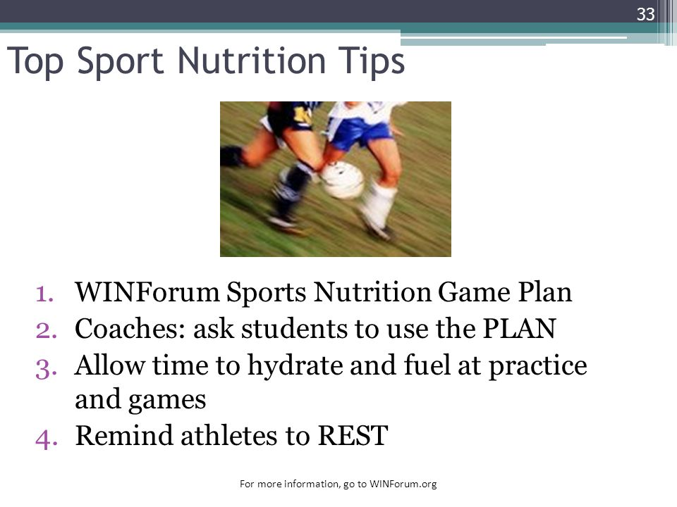 Top Sport Nutrition Tips