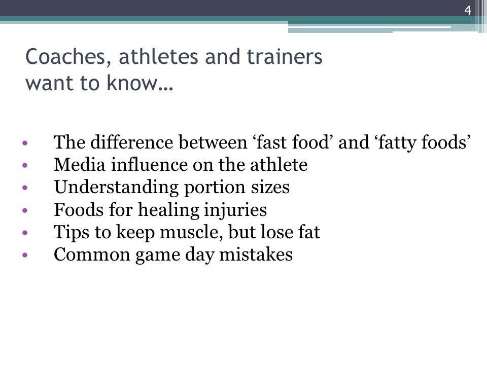 Coaches, athletes and trainers want to know…