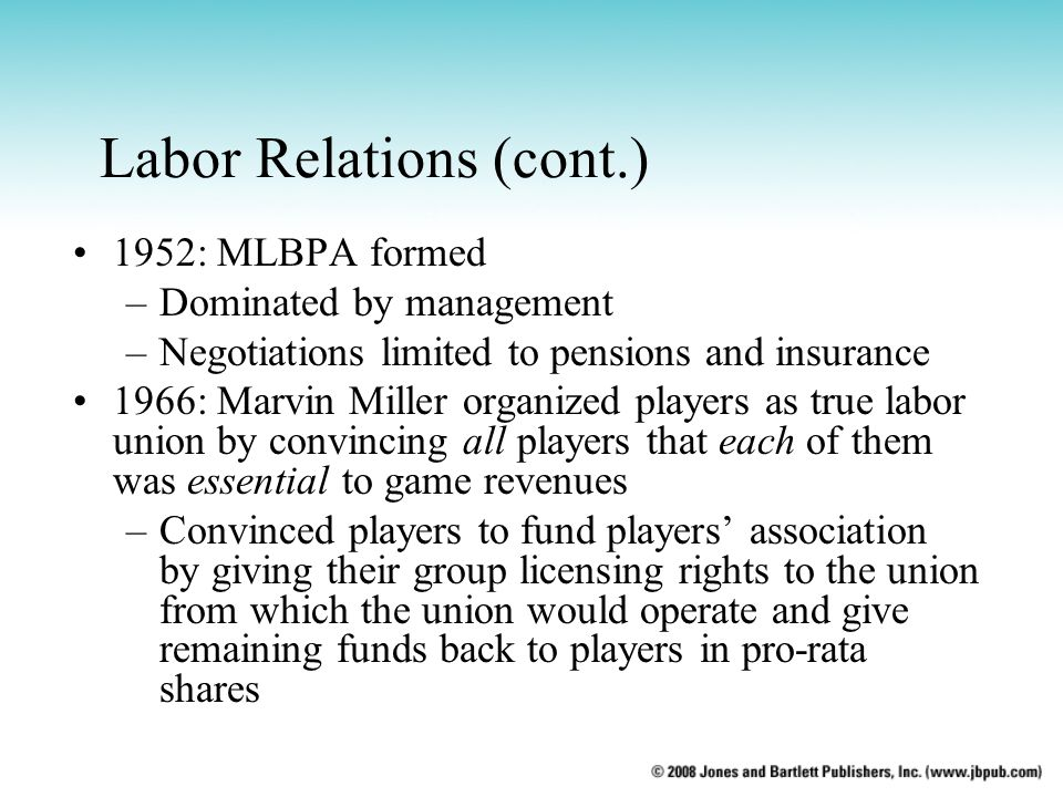 Labor Relations (cont.)