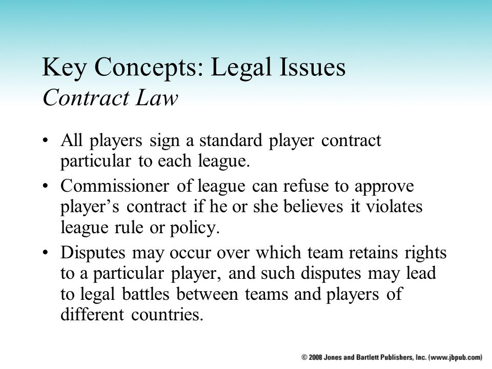 Key Concepts: Legal Issues Contract Law