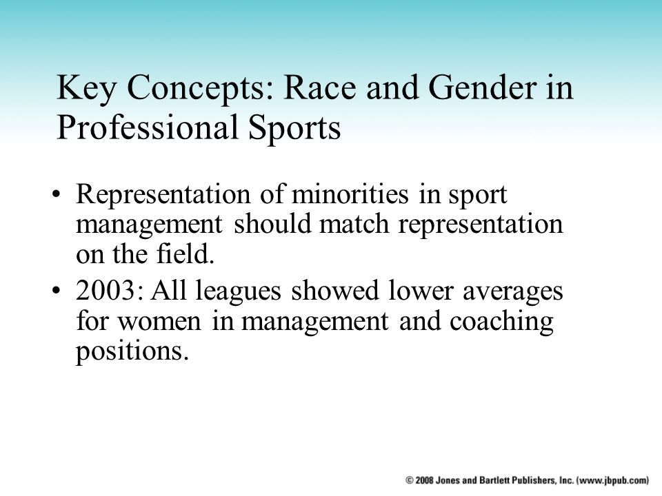Key Concepts: Race and Gender in Professional Sports