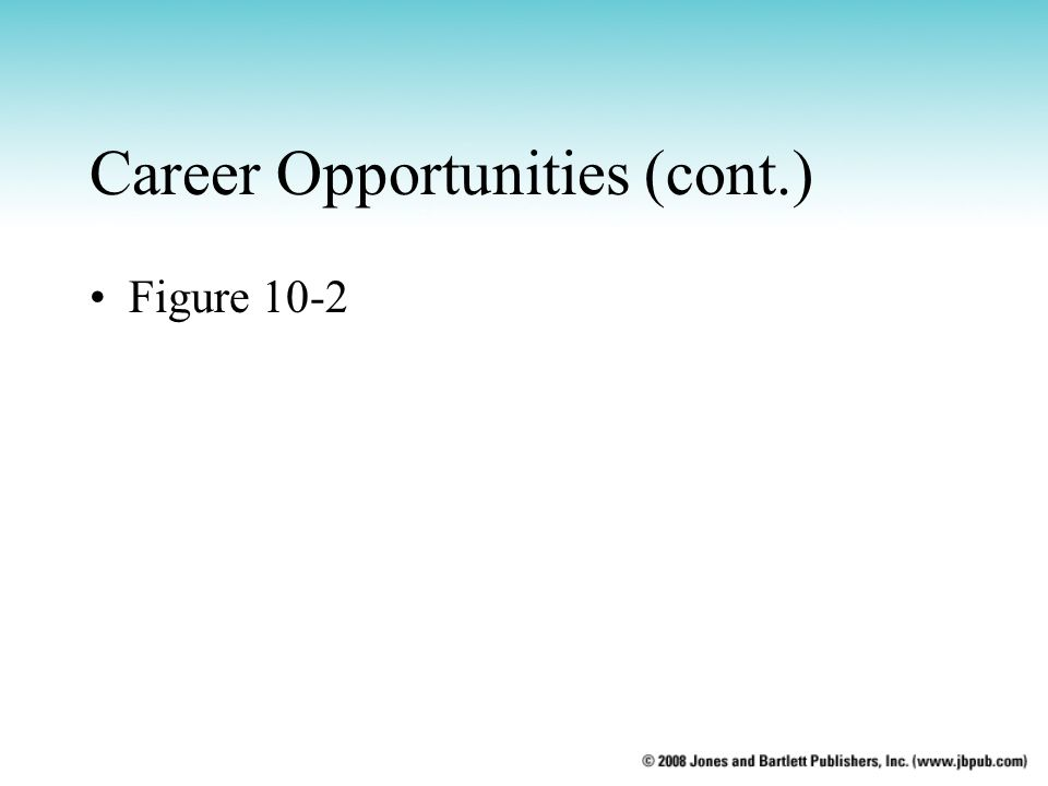 Career Opportunities (cont.)
