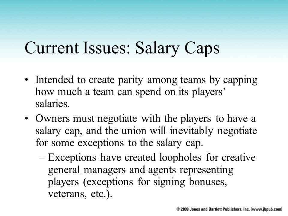 Current Issues: Salary Caps