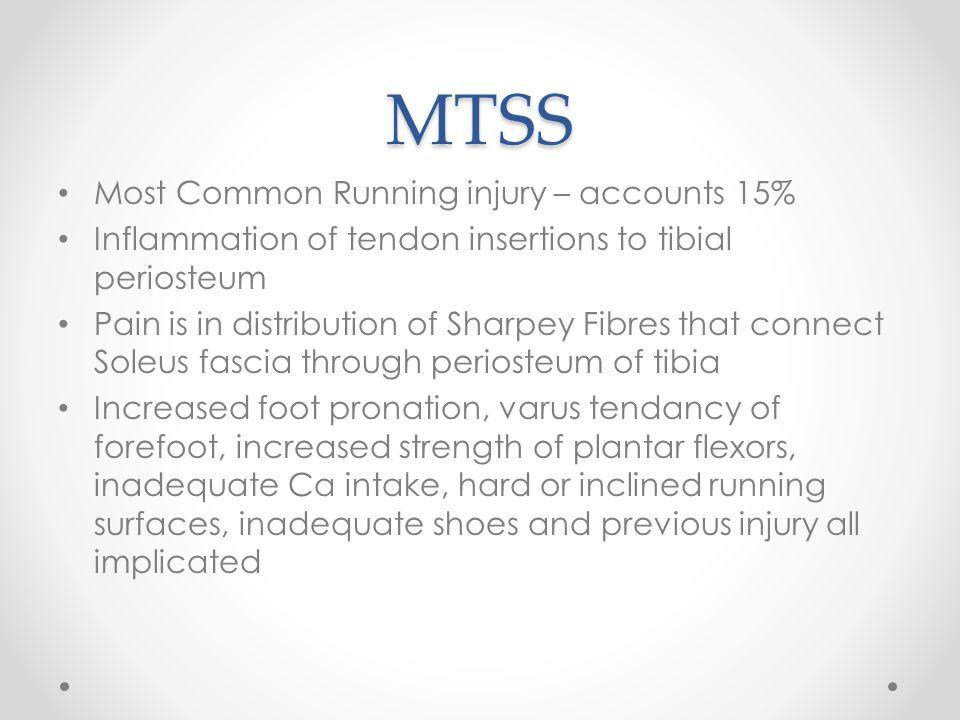 MTSS Most Common Running injury – accounts 15%