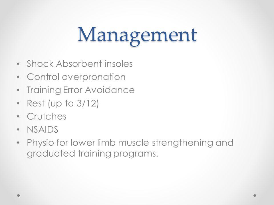 Management Shock Absorbent insoles Control overpronation
