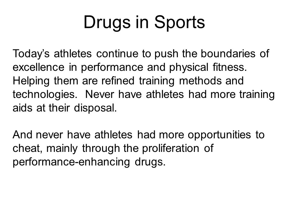 Drugs in Sports